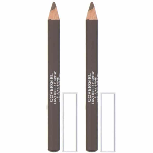 Covergirl, Easy Breezy, Brow Fill + Define Pencil, 510 Soft Brown, 0.06 oz (1.7 g)
