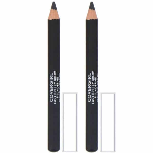 Covergirl, Easy Breezy, Brow Fill + Define Pencils, 500 Black, 0.06 oz (1.7 g)