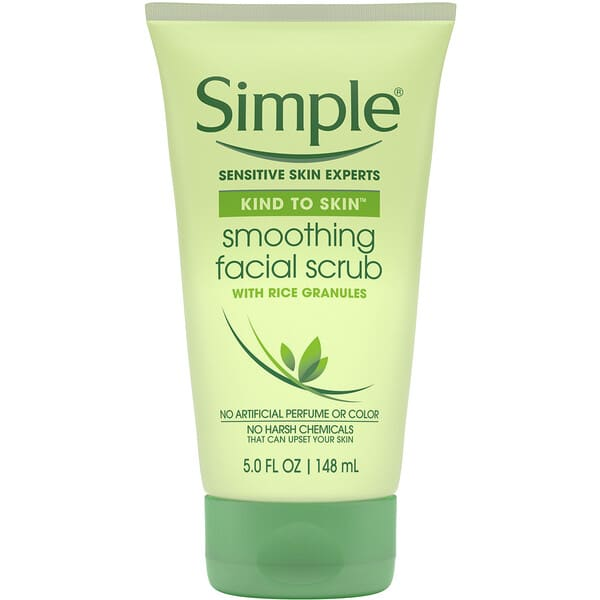 Simple Skincare, Smoothing Facial Scrub, 5 fl oz (148 ml)