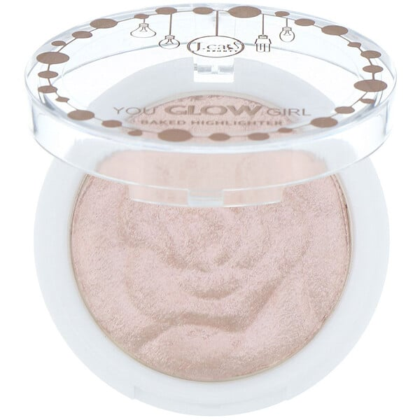 J.Cat Beauty, You Glow Girl, Baked Highlighter, YGG106 Bella Rose, 0.30 oz (8.5 g)