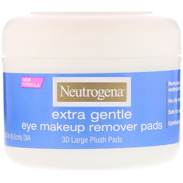 Neutrogena, Extra Gentle, Eye Makeup Remover Pads, 30 Large Plush Pads