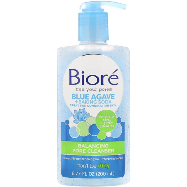 Biore, Balancing Pore Cleanser, Blue Agave + Baking Soda, 6.77 fl oz (200 ml)