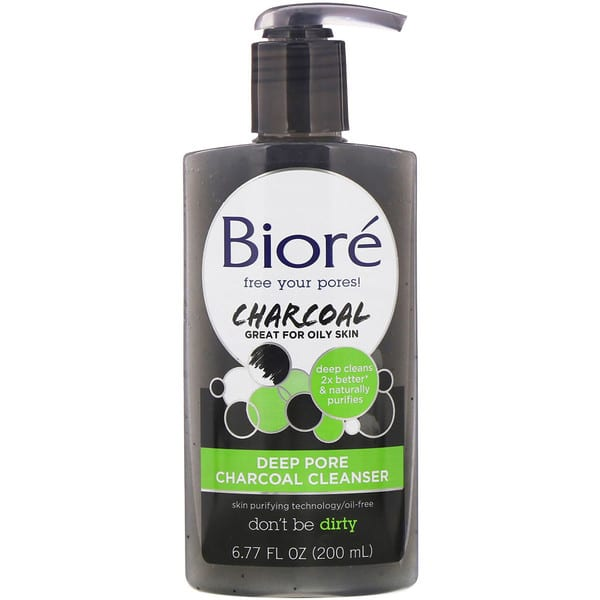 Biore, Deep Pore Charcoal Cleanser, 6.77 fl oz (200 ml)