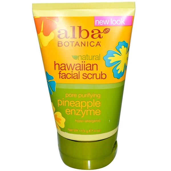 Alba Botanica, Natural Hawaiian Facial Scrub, Pineapple Enzyme, 4 oz (113 g)