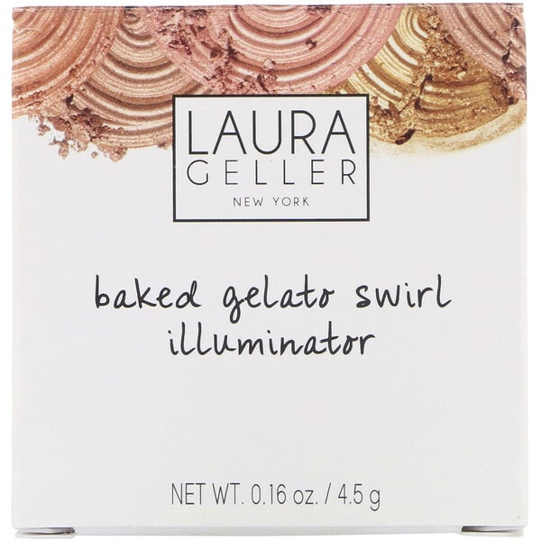 Laura Geller, Baked Gelato Swirl Illuminator, Gilded Honey, 0.16 oz (4.5 g)