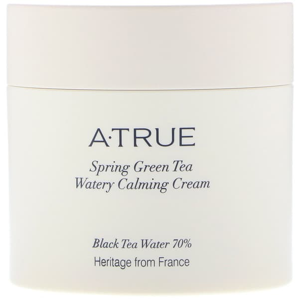 ATrue, Spring Green Tea Watery Calming Cream, 2.82 oz (80 g)