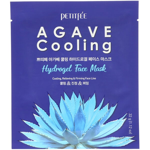 Petitfee, Agave Cooling, Hydrogel Face Mask, 5 Sheets, 1.12 oz (32 g) Each