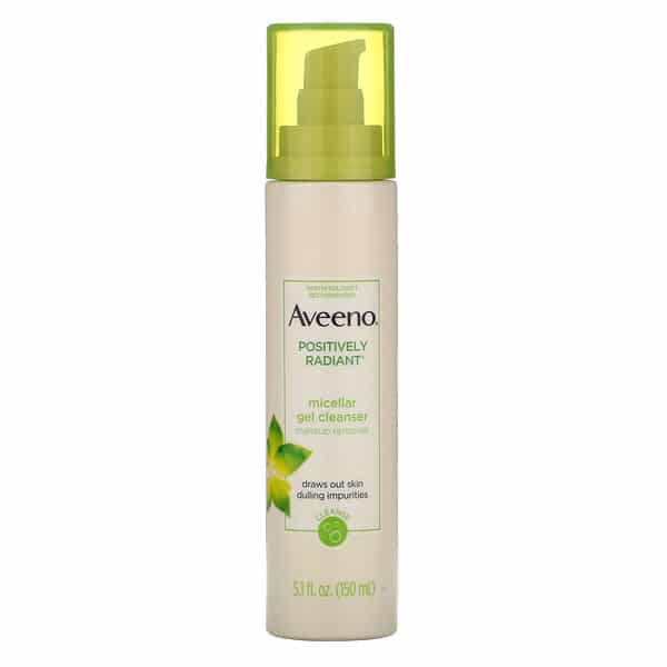 Aveeno, Positively Radiant, Micellar Gel Cleanser, 5.1 fl oz (150 ml)