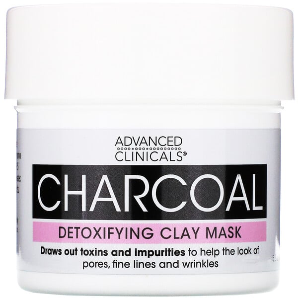Advanced Clinicals, Charcoal, Detoxifying Clay Mask, 5.5 oz (156 g)