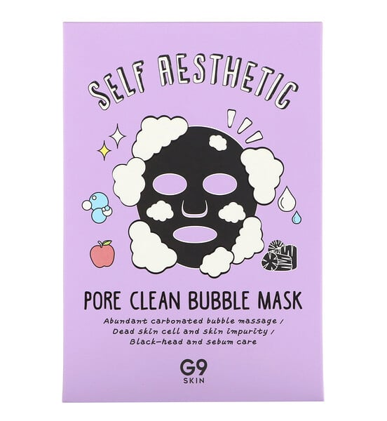 G9skin, Self Aesthetic, Pore Clean Bubble Mask, 5 Sheets, 0.78 fl oz (23 ml) Each