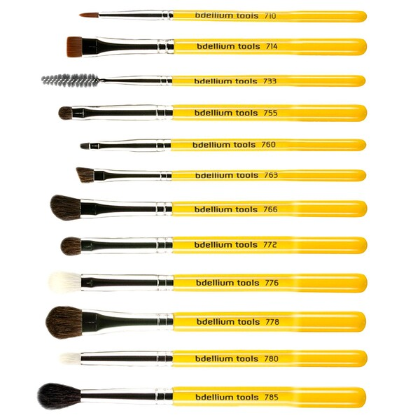 Bdellium Tools, Studio Line, Eyes Brush Set and Pouch, 12 Pc Set