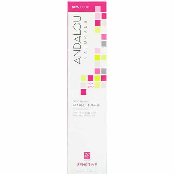 Andalou Naturals, Floral Toner, 1000 Roses, Sensitive, 6 fl oz (178 ml)