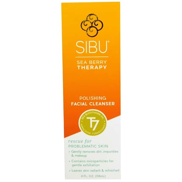 Sibu Beauty, Sea Berry Therapy, Polishing Facial Cleanser, Sea Buckthorn Oil, T7, 4 fl oz (118 ml)