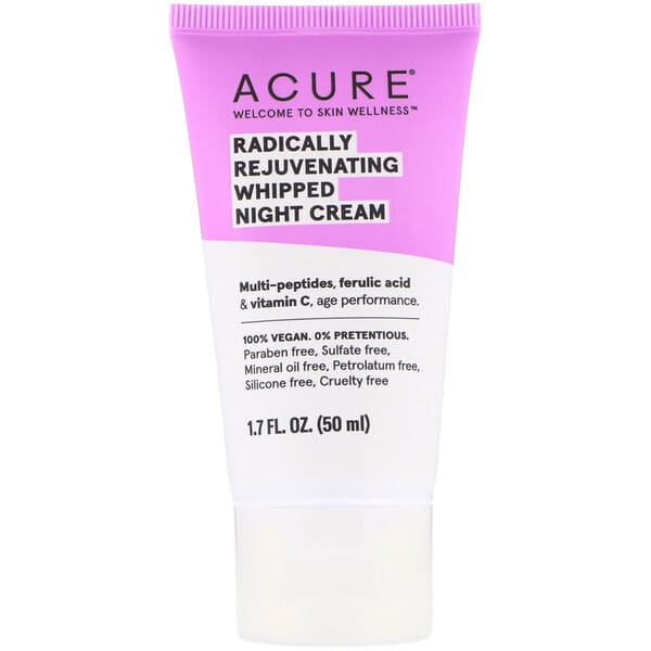 Acure, Radically Rejuvenating Whipped Night Cream, 1.7 fl oz (50 ml)