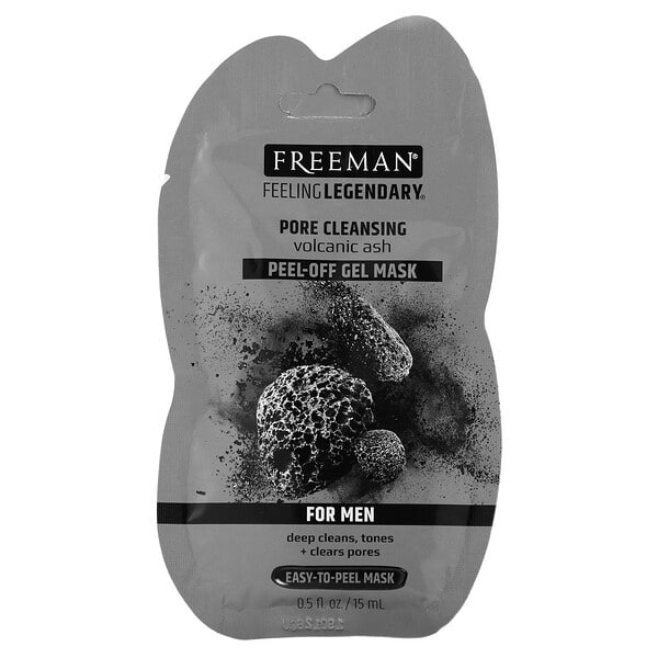 Freeman Beauty, Feeling Legendary, Pore Cleansing Peel-Off Gel Mask, For Men, 0.5 fl oz (15 ml)