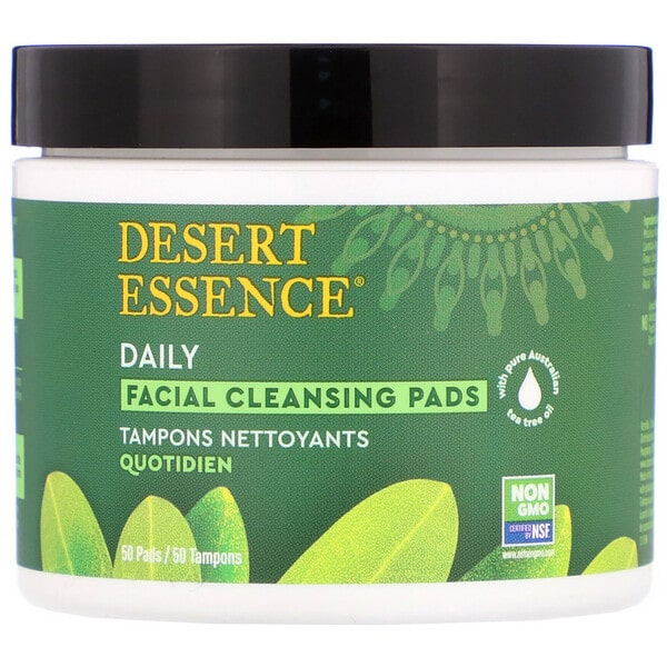 Desert Essence, Daily Facial Cleansing Pads, 50 Pads