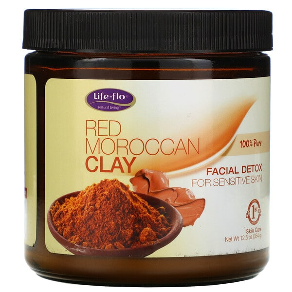 Life-flo, Red Moroccan Clay, Facial Detox, 12.5 oz (354 g)