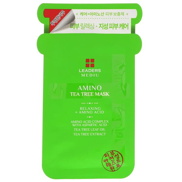 Leaders, Mediu, Amino Tea Tree Mask, 1 Sheet, 25 ml