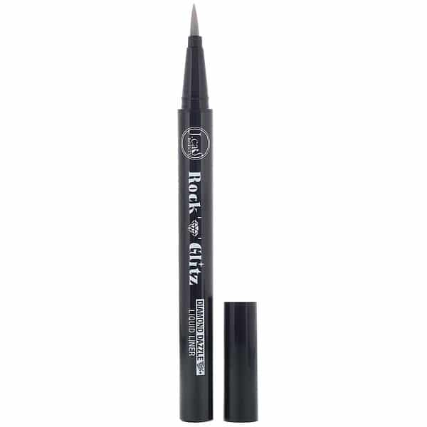 J.Cat Beauty, Rock n Glitz, Diamond Dazzle Liquid Liner, RG107 Platinum Pop, 0.03 oz (0.85 g)