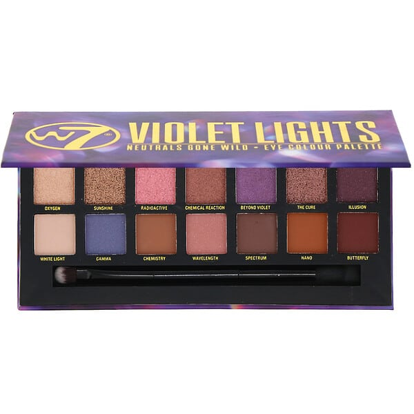 W7, Violet Lights,Neutrals Gone Wild, Eye Colour Palette, 0.39 oz (11.2 g)