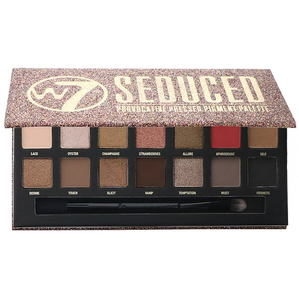 W7, Seduced, Provocative Pressed Pigment Palette, 0.39 oz (11.2 g)