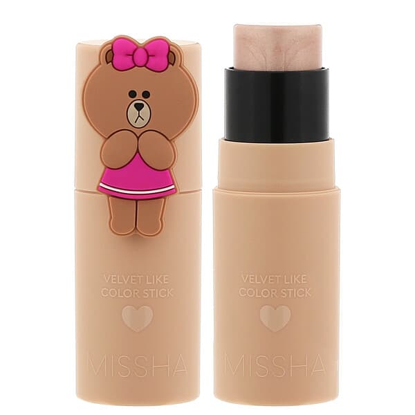 Missha, Line Friends Edition, Velvet Like Color Stick, Key Light, 0.24 oz (7 g)