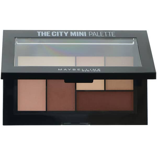 Maybelline, The City Mini Eyeshadow Palette, 480 Matte About Town, 0.14 oz