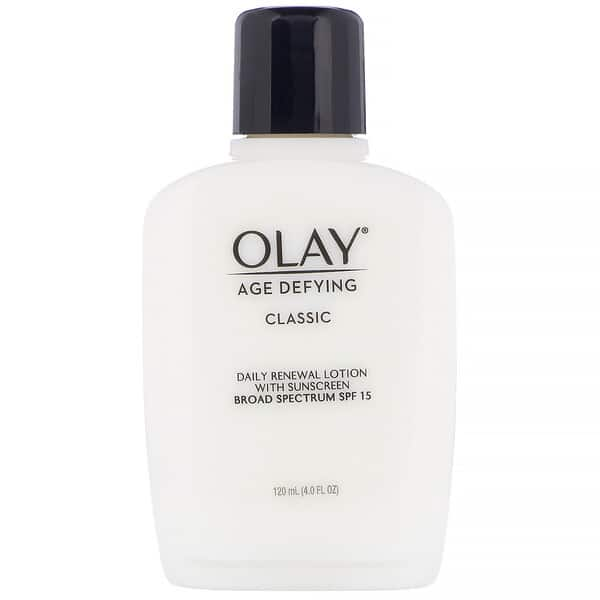 Olay, Age Defying, Classic, Daily Renewal Lotion with Sunscreen, SPF 15, 4 fl oz (120 ml)
