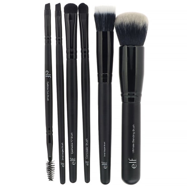 E.L.F., Flawless Face Kit, 6 Piece Brush Collection