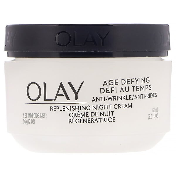 Olay, Age Defying, Anti-Wrinkle, Night Cream, 2 fl oz (60 ml)