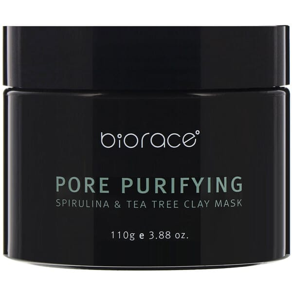 Biorace, Pore Purifying, Spirulina & Tea Tree Clay Mask, 3.88 oz (110 g)