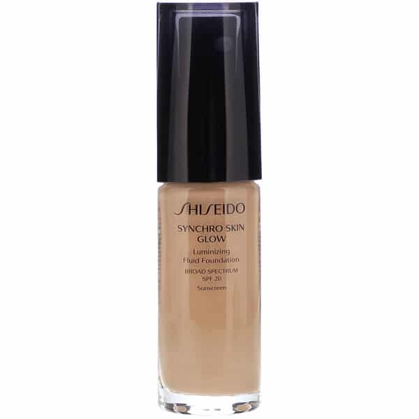 Shiseido, Synchro Skin Glow, Luminizing Fluid Foundation, SPF 20, Neutral 4, 1 fl oz (30 ml)