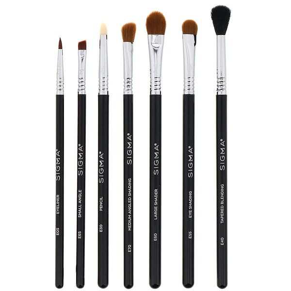 Sigma, Basic Eye Brush Set, 7 Piece Set