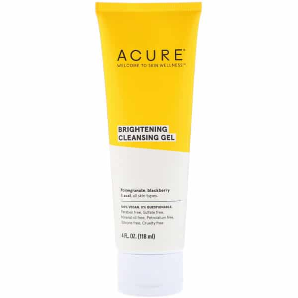 Acure, Brightening Cleansing Gel, 4 fl oz (118 ml)