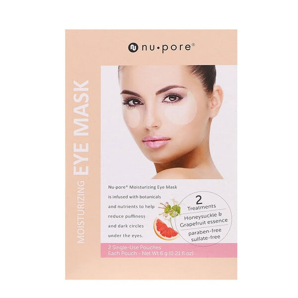 Nu-Pore, Moisturizing Eye Mask, 2 Single-Use Pouches, 6 g (0.21 fl oz) Each