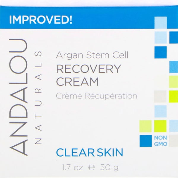 Andalou Naturals, Argan Stem Cell Recovery Cream, Clearer Skin, 1.7 fl oz (50 ml)
