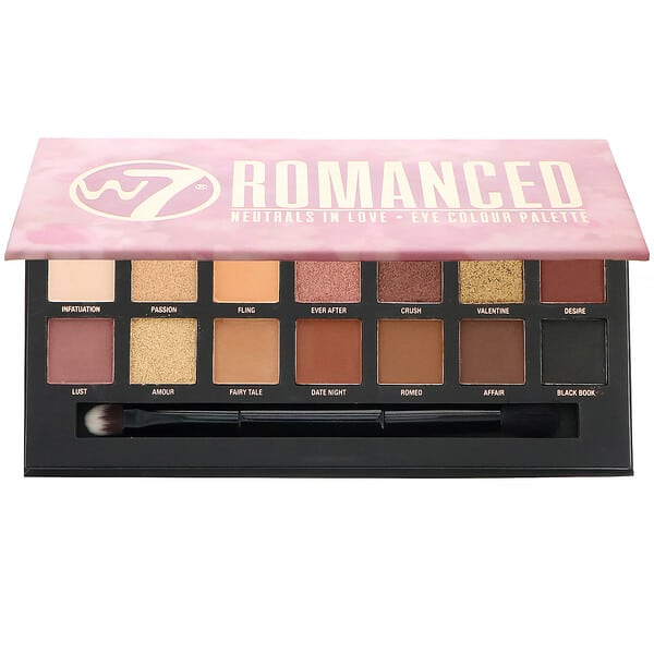 W7, Romanced, Neutrals In Love, Eye Colour Palette, 0.39 oz (11.2 g)