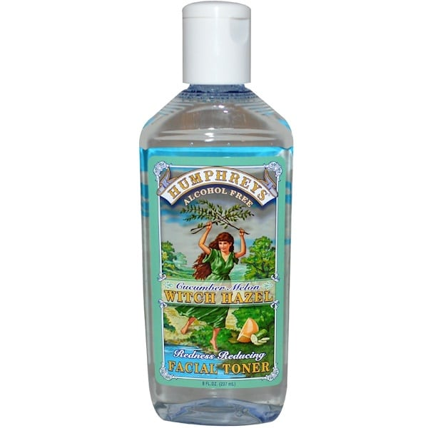 Humphrey's, Redness Reducing Facial Toner, Cucumber Melon Witch Hazel, Alcohol Free, 8 fl oz (237 ml)