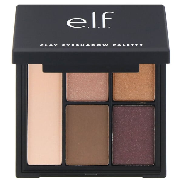E.L.F., Clay Eyeshadow Palette, Saturday Sunsets, 0.26 oz (7.5 g )