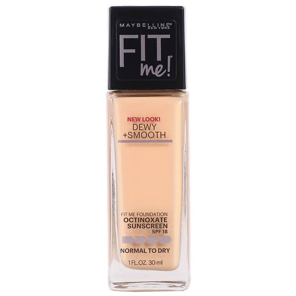 Maybelline, Fit Me, Dewy + Smooth Foundation, 125 Nude Beige, 1 fl oz (30 ml)