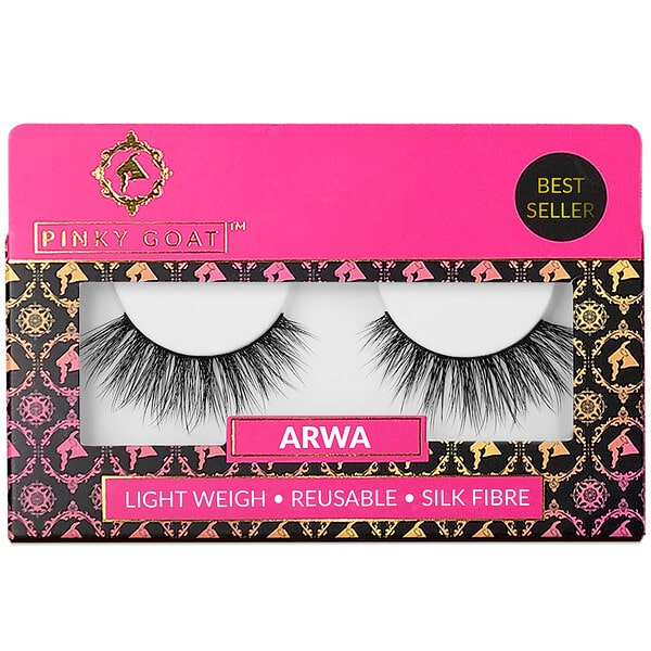 Pinky Goat, Arwa, Light Weight False Eyelashes, 1 Pair