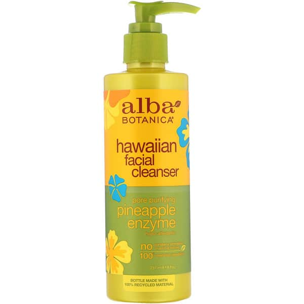 Alba Botanica, Hawaiian Facial Cleanser, Pore Purifying Pineapple Enzyme, 8 fl oz (237 ml)