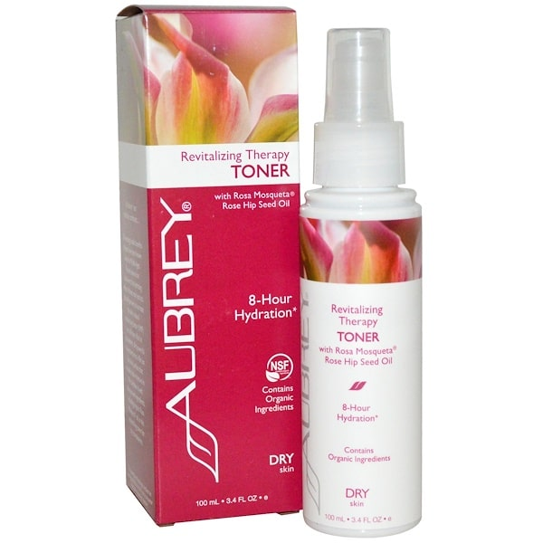 Aubrey Organics, Revitalizing Therapy Toner, Dry Skin, 3.4 fl oz (100 ml)