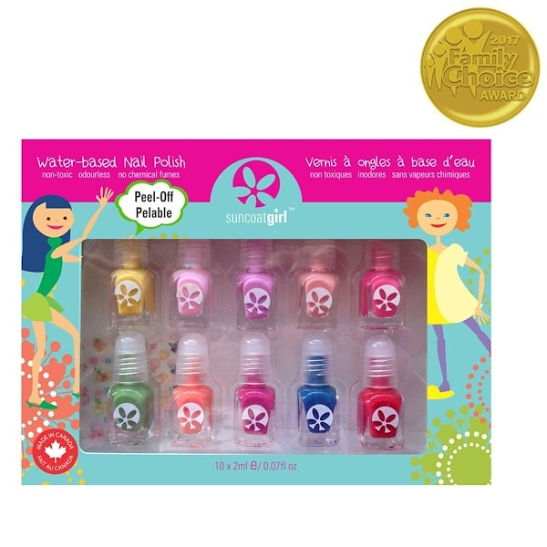 SuncoatGirl, Water-Based Nail Polish Kit, Party Palette, 10 Pieces