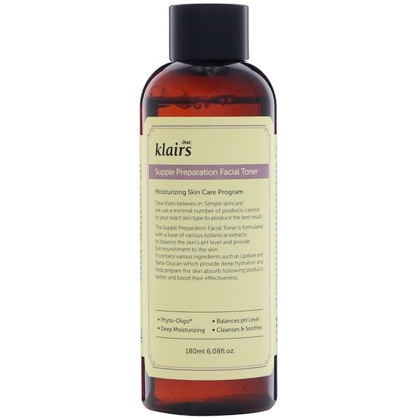 Dear, Klairs, Supple Preparation Facial Toner, 6.08 fl oz (180 ml)