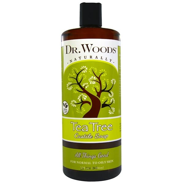 Dr. Woods, Tea Tree Castile Soap, 32 fl oz (946 ml)