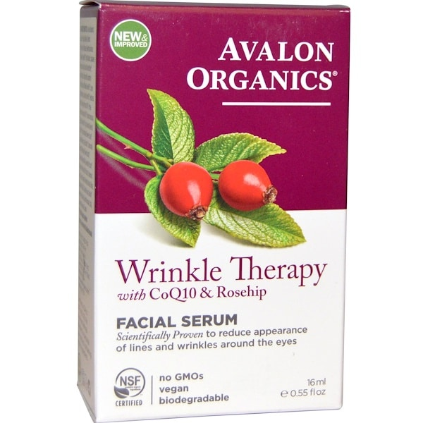 Avalon Organics, CoQ10 & Rosehip Wrinkle Therapy, .55 fl oz (16 ml)