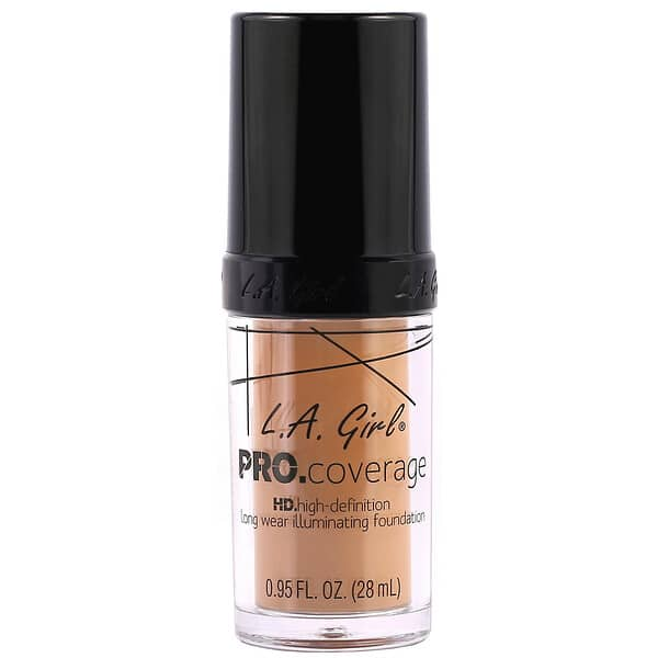 L.A. Girl, Pro Coverage HD Foundation, Beige, 0.95 fl oz (28 ml)