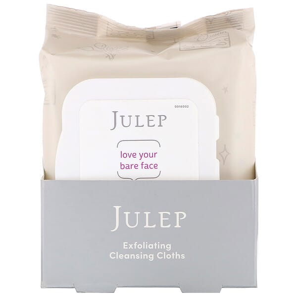 Julep, Love Your Bare Face, Exfoliating Cleansing Cloths, 30 Towelettes