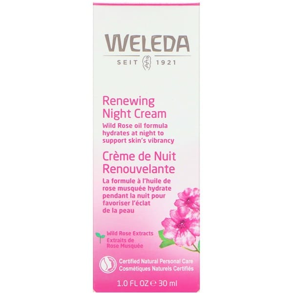 Weleda, Renewing Night Cream, Wild Rose Extracts, 1.0 fl oz (30 ml)